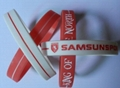 Debossed Fill Color Twin Silicone Wristbands  2