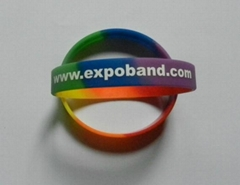 Mixed Color Silicone Wristband