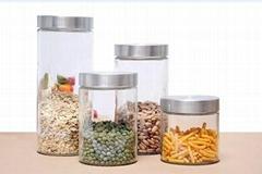 Big Glass Airtight Jar & Canister - Set of 4