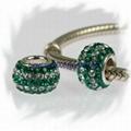 silver core-uniquecrystal beads