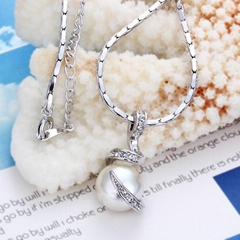 Gorgeous Pearl Plating Platinum Necklace With Crystal