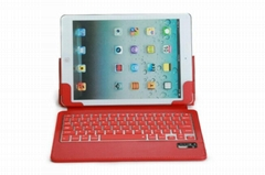 ipad air silicone bluetooth keyboard stand case with sleep wake function
