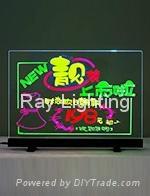 Ray Lighting RT4838K Desktop+Tempered optical glass Led writing board