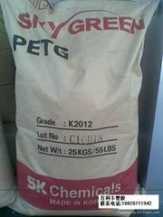 供耐腐蚀耐化学高透明韩国SK PETG K2012医疗食品级挤出吹塑瓶子