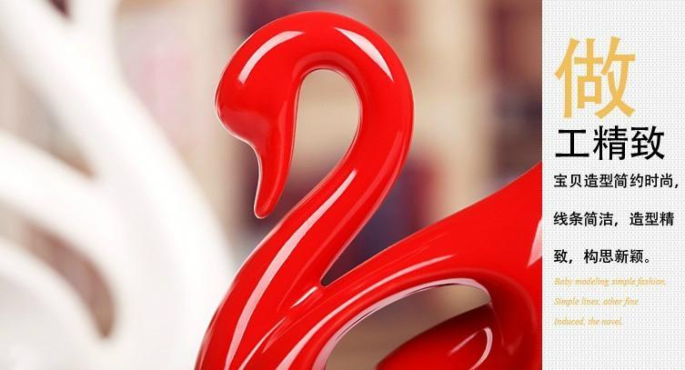 Swan Wedding Gift Return: Ceramic Swan Wedding Gift Couple Gift