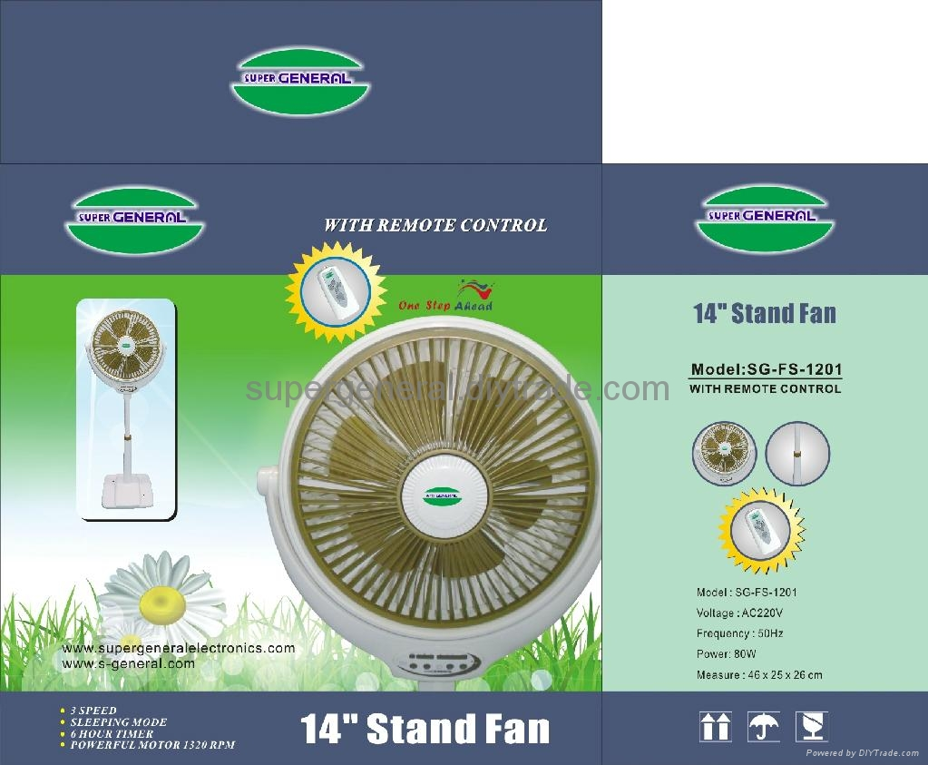 14''stand fan with wind 5