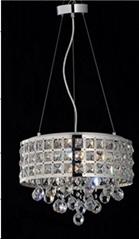 Hotel Metal Stainless Steel Clear Modern Crystal Lighting