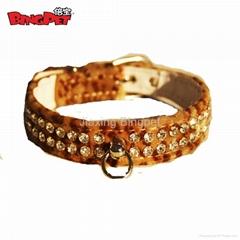 Leopard and Zebra Rhinestones Dog Collars