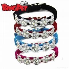 Crystal Flower charm Dog collars