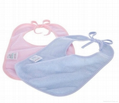 2013 New arrivals 100% cotton breathable eco-friendly baby bib 2 layer bibs