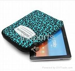 Eco-friendly neoprene laptop bag with zipper