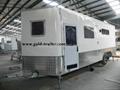 FRP  Caravan Trailer toy hauler trailer