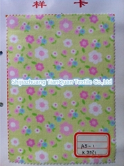 floral printed cotton flannel fabric
