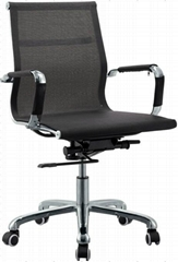 High Qiality Chromed Office Chair with Chromed Steel structure