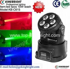 New arrivl led 5pcs 10W(5in1)led moving head wash light