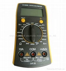 vc830l digital multimeter with pocket-size