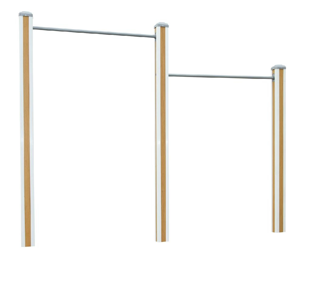 outdoor playground equipment horizontal uneven bar jmt