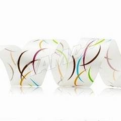 五色油墨印刷织带 彩色缎带