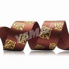 发泡烫金缎带 定制印刷缎带