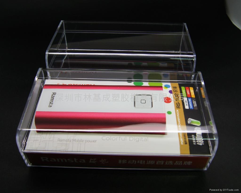 LJ-047移動電源水晶盒 透明包裝盒 水晶包裝盒 1