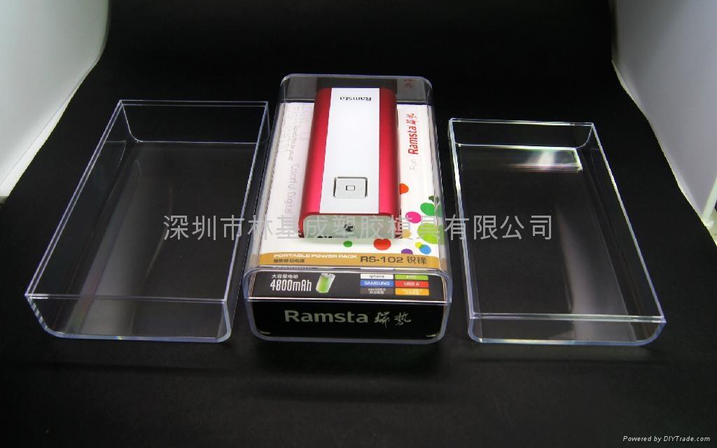 LJ-047移動電源水晶盒 透明包裝盒 水晶包裝盒 2