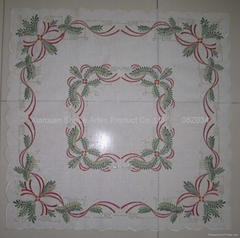 Embroidery Christmas Table Cloth # 08Z034
