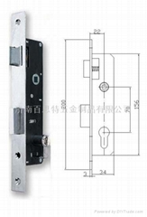 Narrow stile mortise lock S306