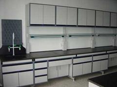 C型钢木实验有架边台、水槽柜