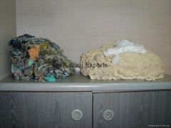 100% Cotton Colour Teased Yarn Waste