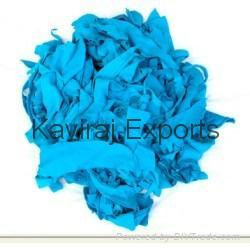 Cotton Turquoise Blue Hosiery Clips
