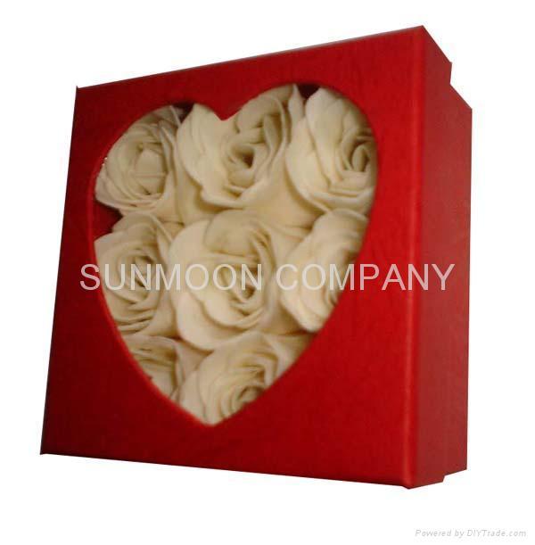 Scented Soap flower/ paper soap in hardboard gift box 1