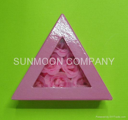 Scented Soap flower/ paper soap in hardboard gift box 3