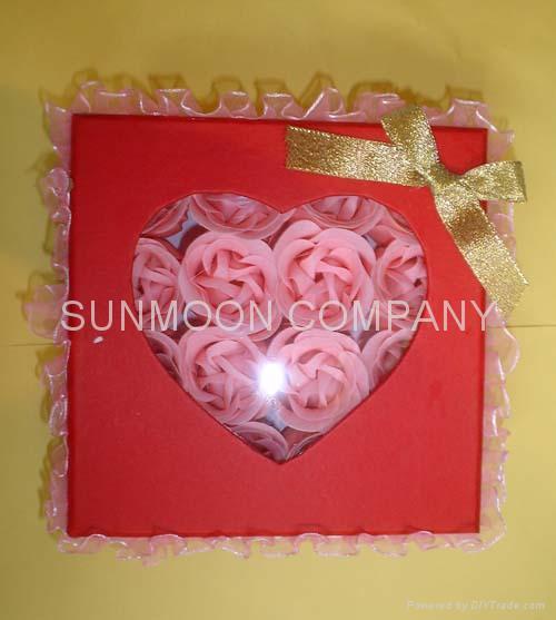 Scented Soap flower/ paper soap in hardboard gift box 4