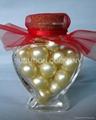 香皂花瓣+浴珠入心形塑料盒 2