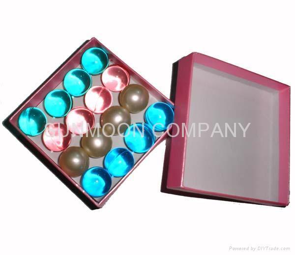 香皂花瓣+浴珠入心形塑料盒 3