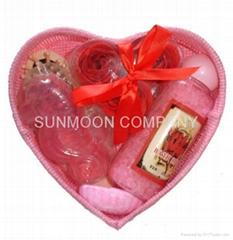 Bath gift set: Soap flower+ bath bubble +soap+bath caviar