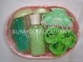 Bath gift set: Soap flower+ bath bubble +soap+bath caviar  4