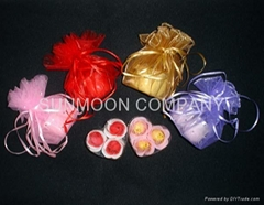 Soap flower/soap petal in organza bag
