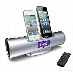 FS09349 for iPhone 5 4 3Gs 4G iPod Touch Nano iPhone5 Dual Docking Dock Speaker
