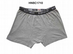 Mens rib boxer shorts