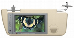 "7""Car Sun-Shading TFT LCD Monitor W/TV+Speaker"