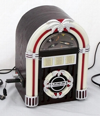 Small London jukebox with MP3 player and Fm radio bluetooth function