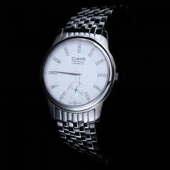 瑞士CHENS传世手表 钻石钢带女表