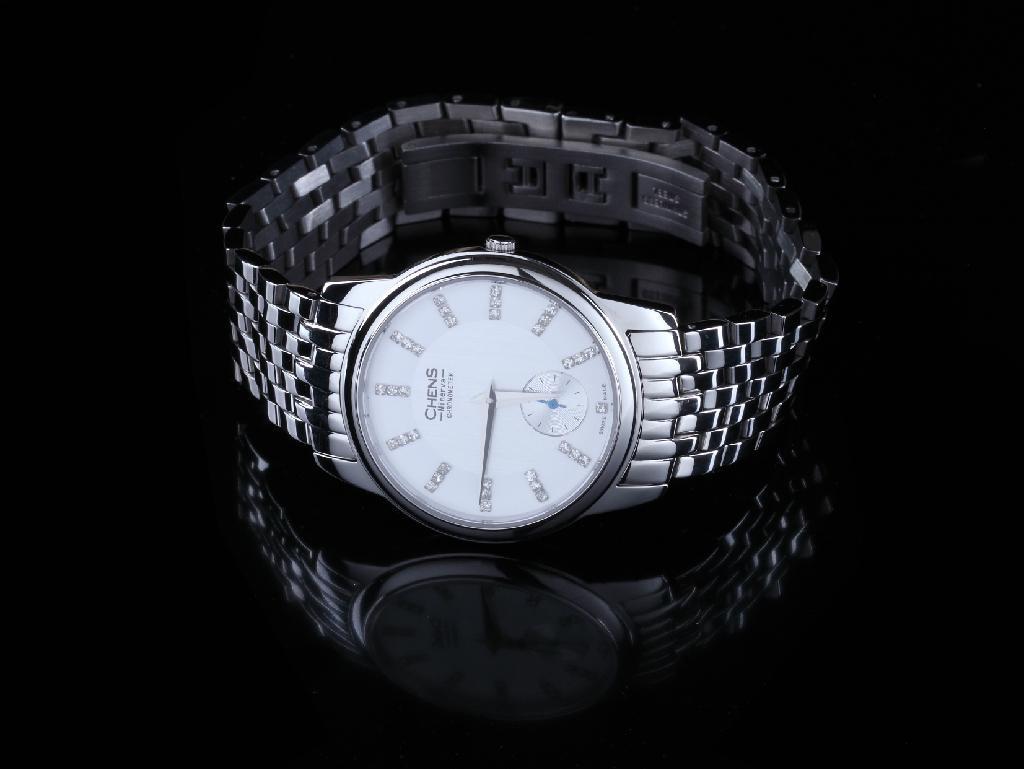 瑞士CHENS傳世手錶 鑽石鋼帶女表 4