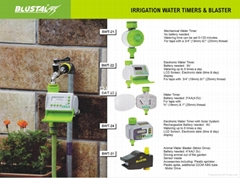 IRRIGATION TIMERS AND BLASTERS
