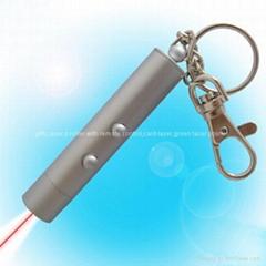Red laser pointer keychain