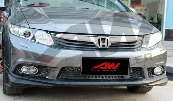 2011 civic oem pu body kits aw hd civ by aw china Car exterior decoration accessories
