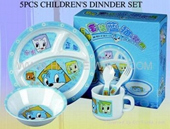 MELAMINE kid's dinner set