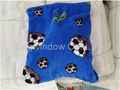 100% cotton velour beach towel with bag(2 in 1)