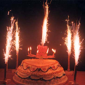 Magic Flower Fireworks Musical Candle Birthday Music Cake